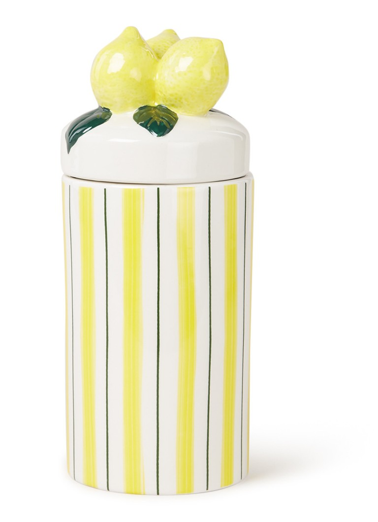 &Klevering - Grand pot de rangement citron 25 cm  - Jaune clair