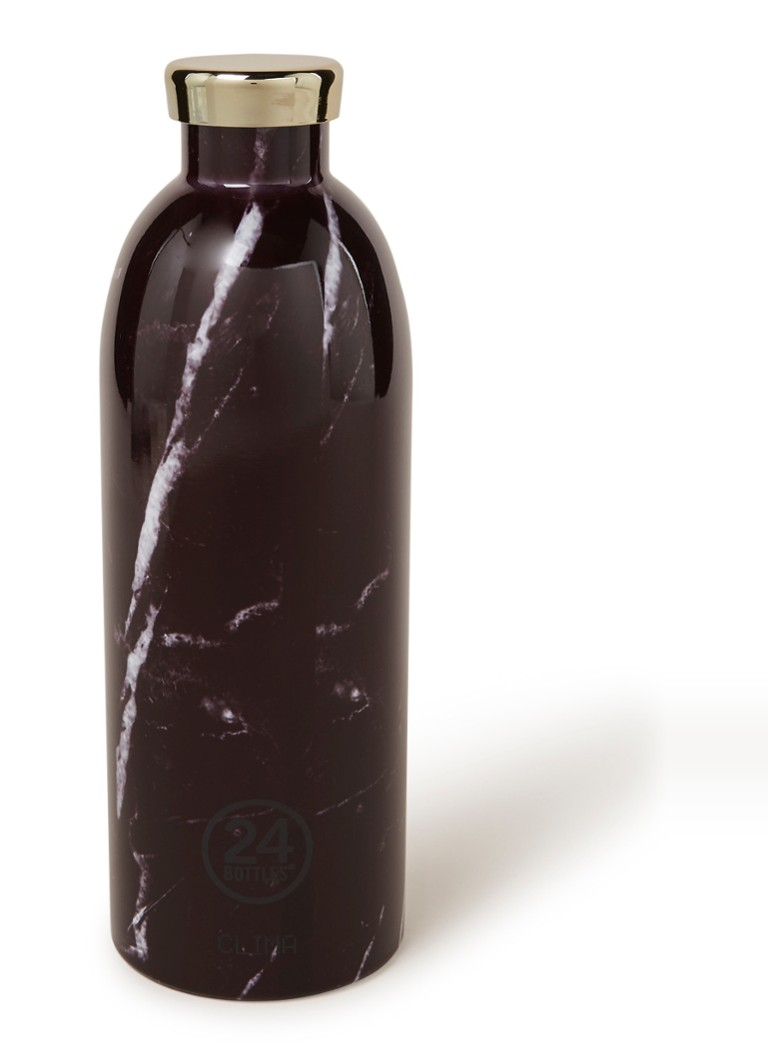 24Bottles - Black Marble Clima Bottle waterfles 850 ml - Zwart