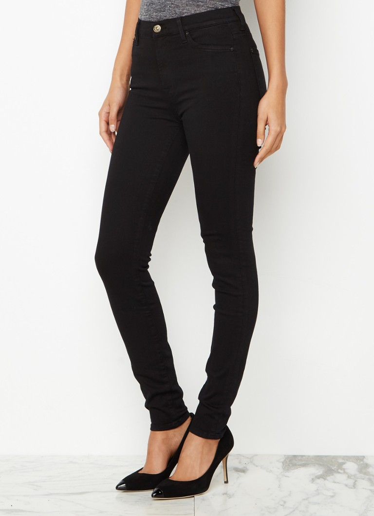 7 For All Mankind - 7 For All Mankind The Skinny Slim Illusion high waist skinny jeans - Zwart