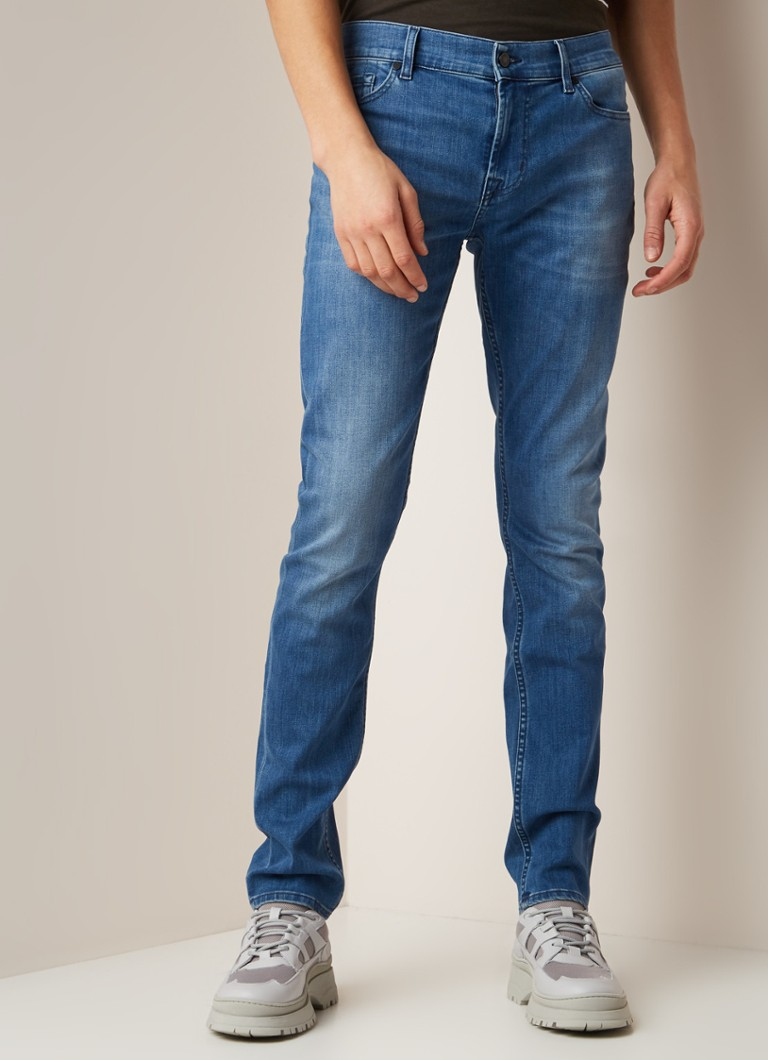 7 For All Mankind - Ronnie slim fit jeans in medium wassing - Indigo