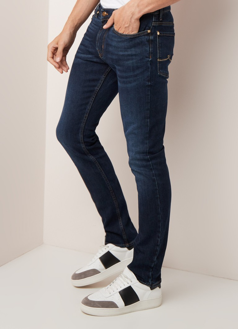 7 For All Mankind - Ronnie slim fit jeans met donkere wassing - Indigo