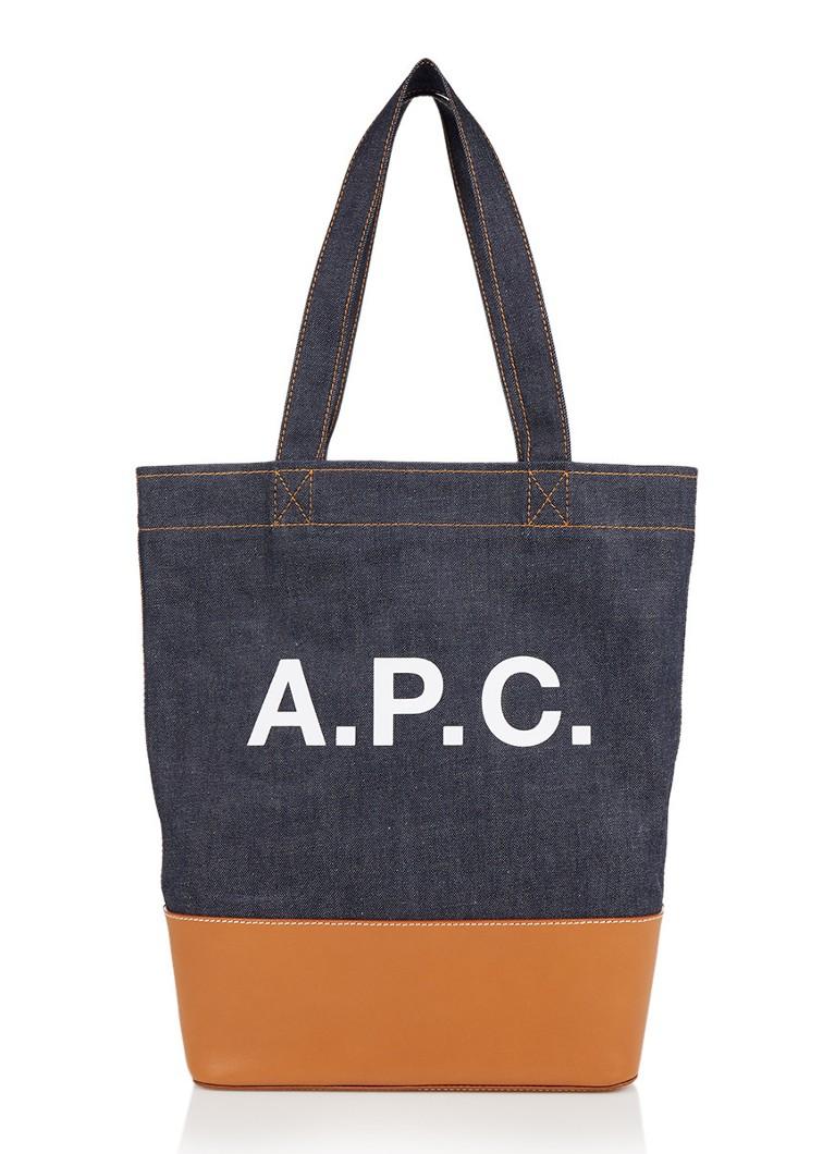 A p c axel shopper met logo en leren detail de bijenkorf for How to be a professional shopper