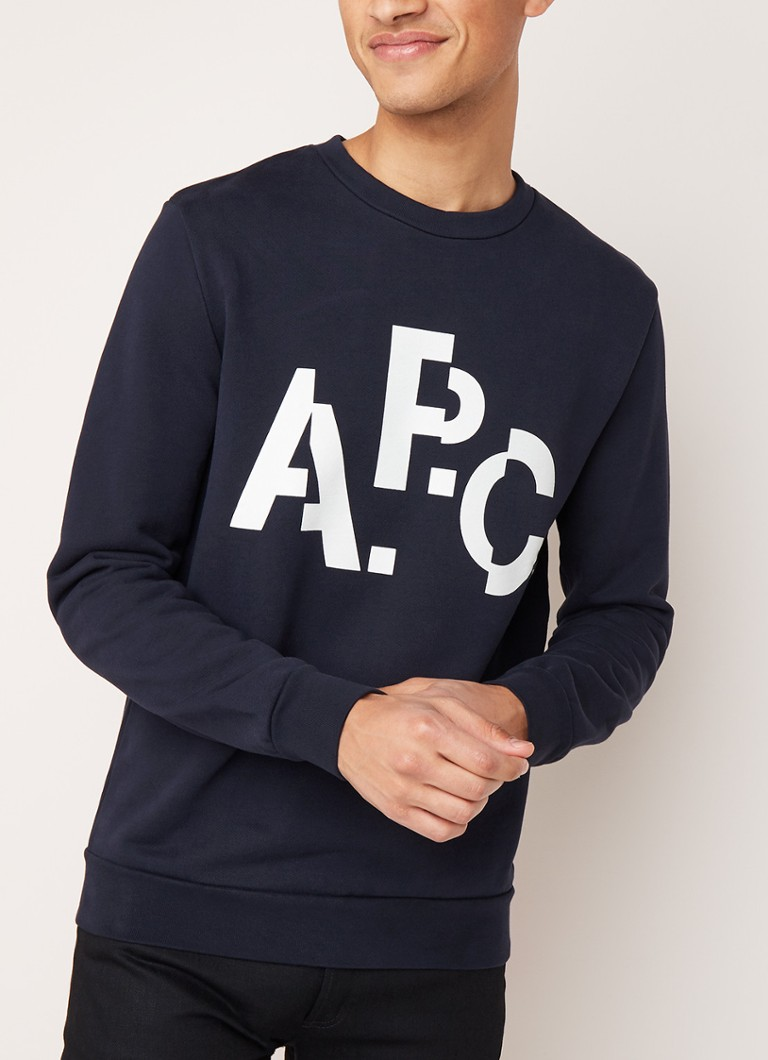 A.P.C. - Decale sweater met logoprint - Donkerblauw