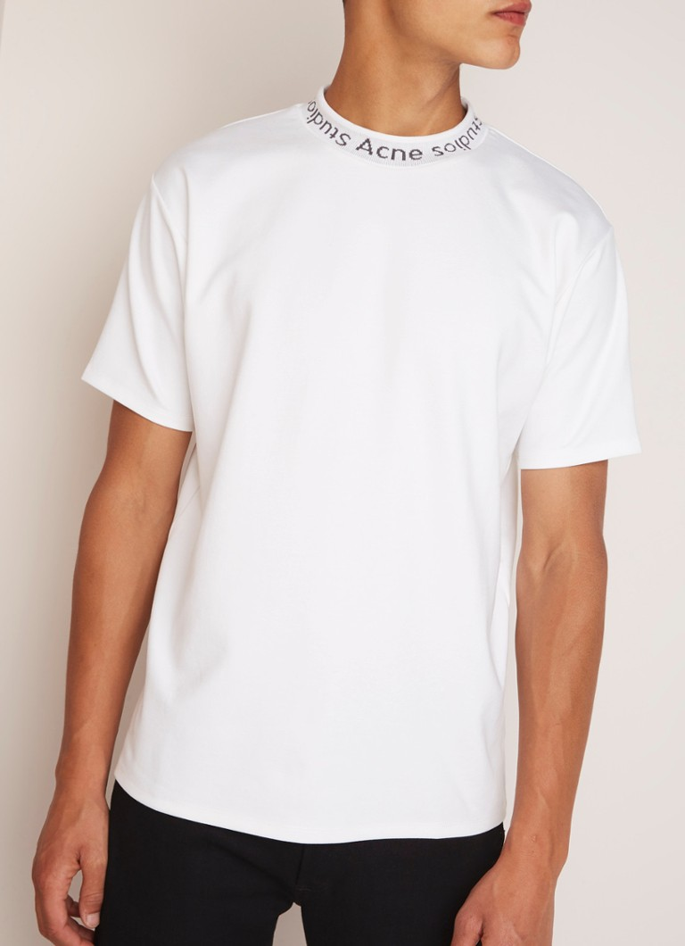 Acne Studios - Navid boxy fit T-shirt met logoboord - Wit