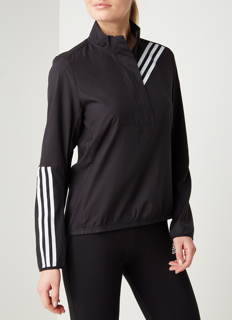 adidas - Run It hardloop jack met reflecterende details - Zwart