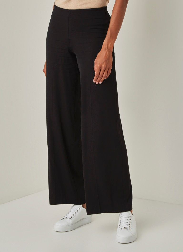 alchemist - Dion high waist wide fit pantalon met stretch - Zwart
