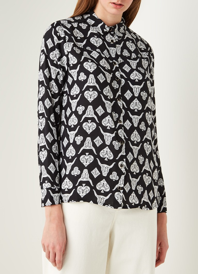 Alix The Label - Blouse met print - Zwart