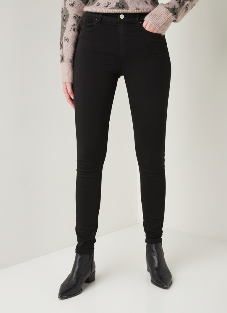 ALLSAINTS - Miller mid waist skinny fit jeans - Antraciet