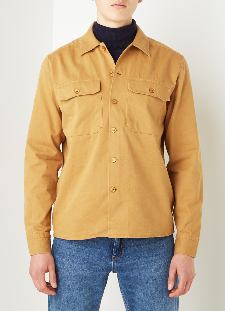 America Today - Chemise en jean coupe regular Howard - Camel