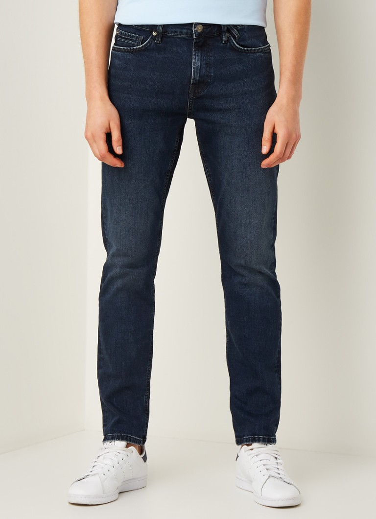 America Today - Dean regular fit jeans met donkere wassing - Indigo