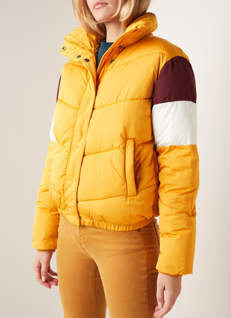 America Today - Jolene puffer jack met colour blocking - Oranje