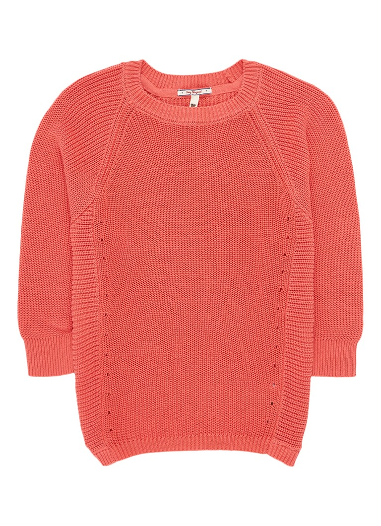 America Today - Kiki gebreide pullover in uni - Koraalrood