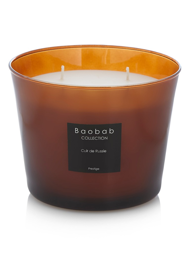 Baobab Collection - Cuir de Russie Prestige geurkaars - Wit