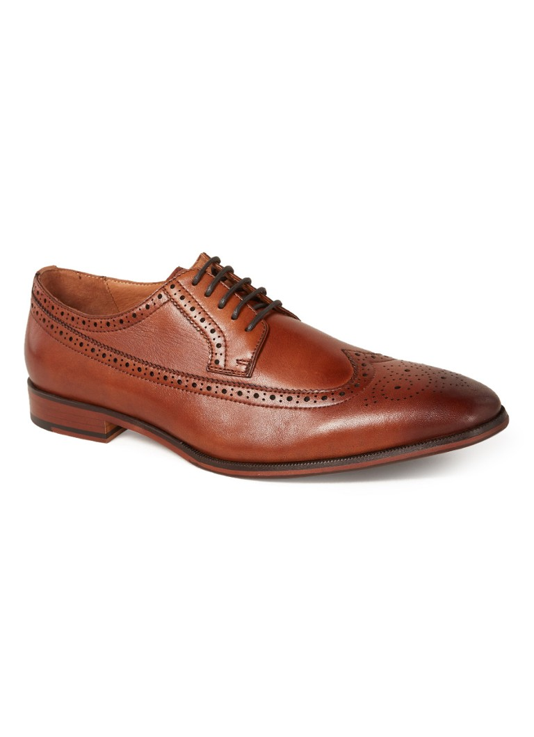 Bertie - Starlings brogue van leer - Cognac