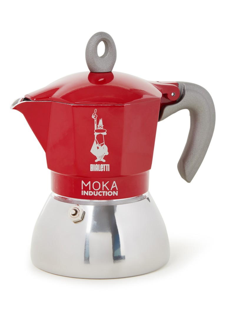 Bialetti - Percolateur à induction Moka 4 tasses - Rouge