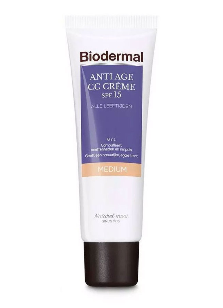 Biodermal - Anti Age CC Crème SPF 15 Medium - CC cream - Medium