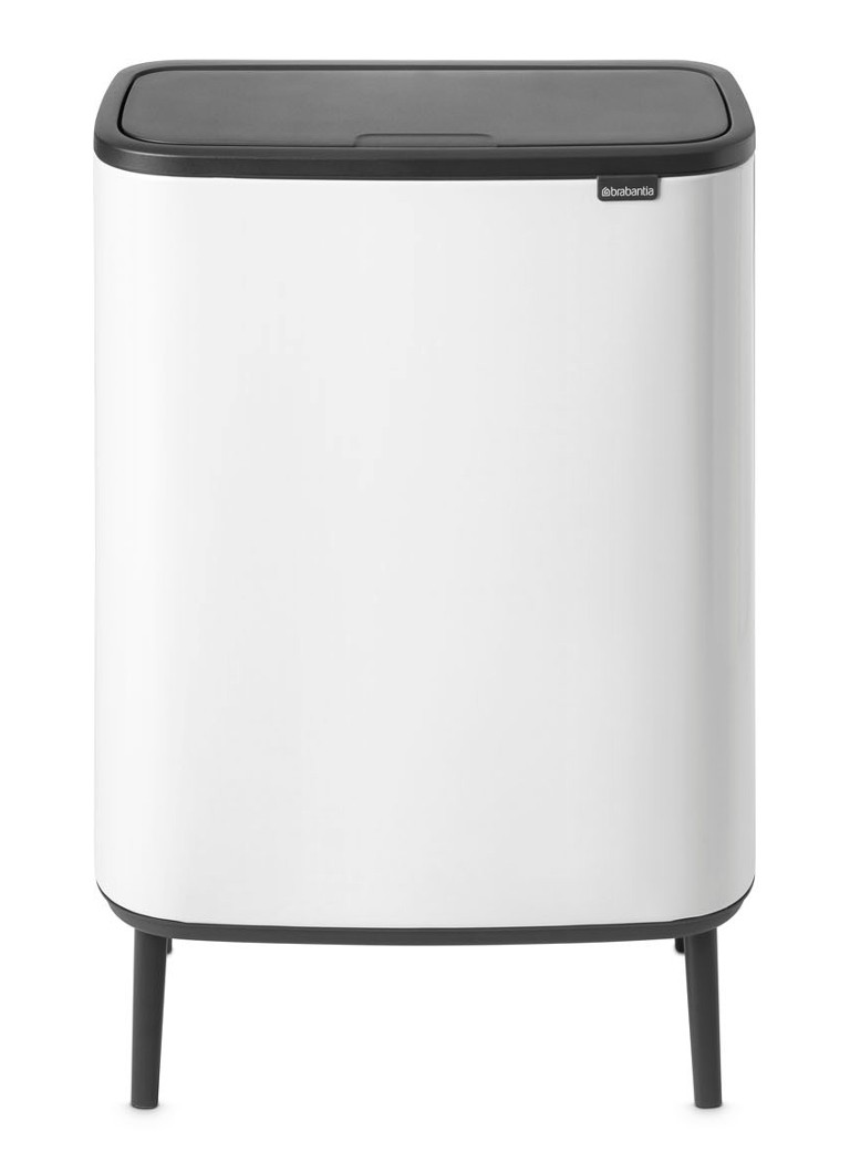 Brabantia - Bo Touch Bin Hi recycle duo afvalemmer 2 x 30 liter - Wit