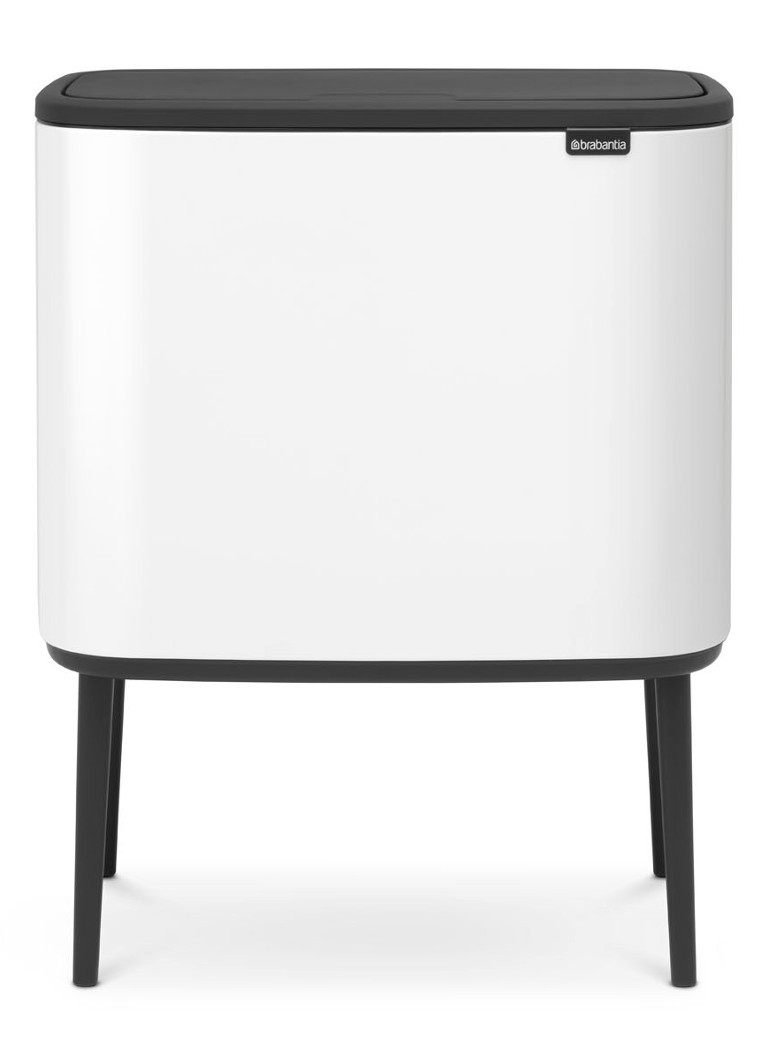 Brabantia - Bo Touch Bin poubelle recyclage duo 11+23 litres - Blanc