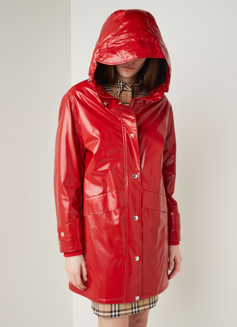 BURBERRY - Cramond regenjas met logo backprint - Rood