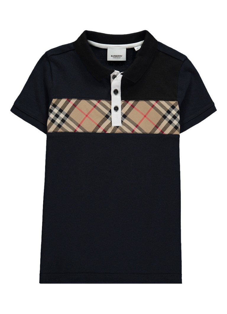 BURBERRY - Jeff polo met logodetail - Donkerblauw