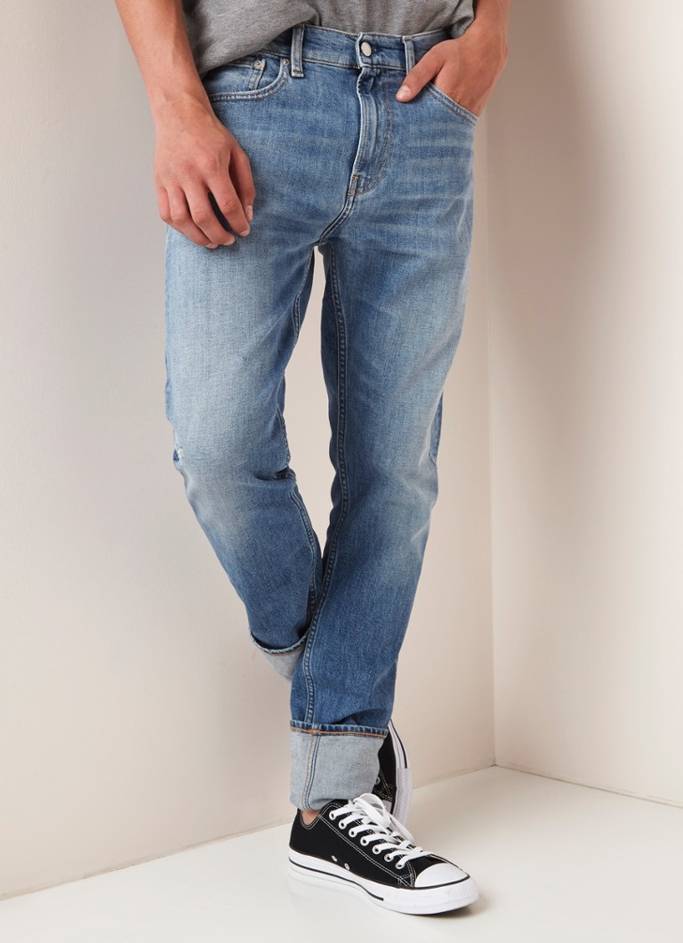 Calvin Klein - Skinny fit jeans met faded look - Indigo