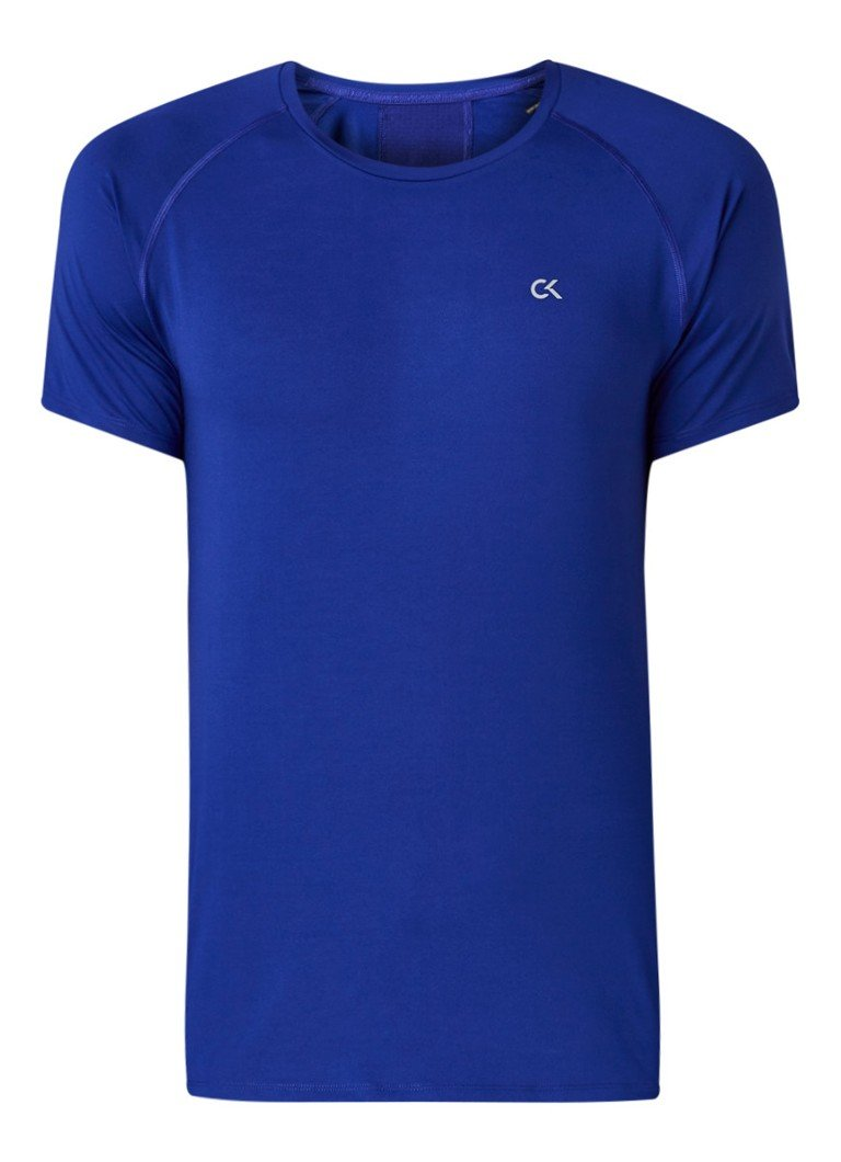 Calvin Klein - Trainings T-shirt met logoprint - Royalblauw