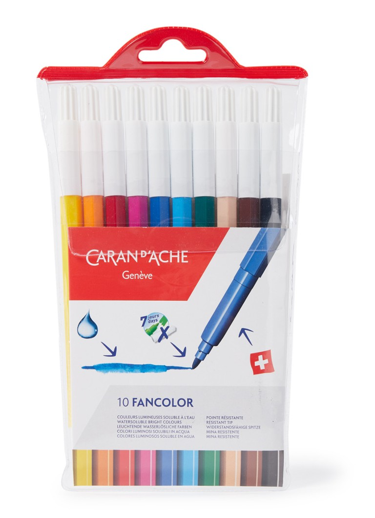 Caran d'Ache - Fancolor viltstiften in etui, set van 10 - Multicolor