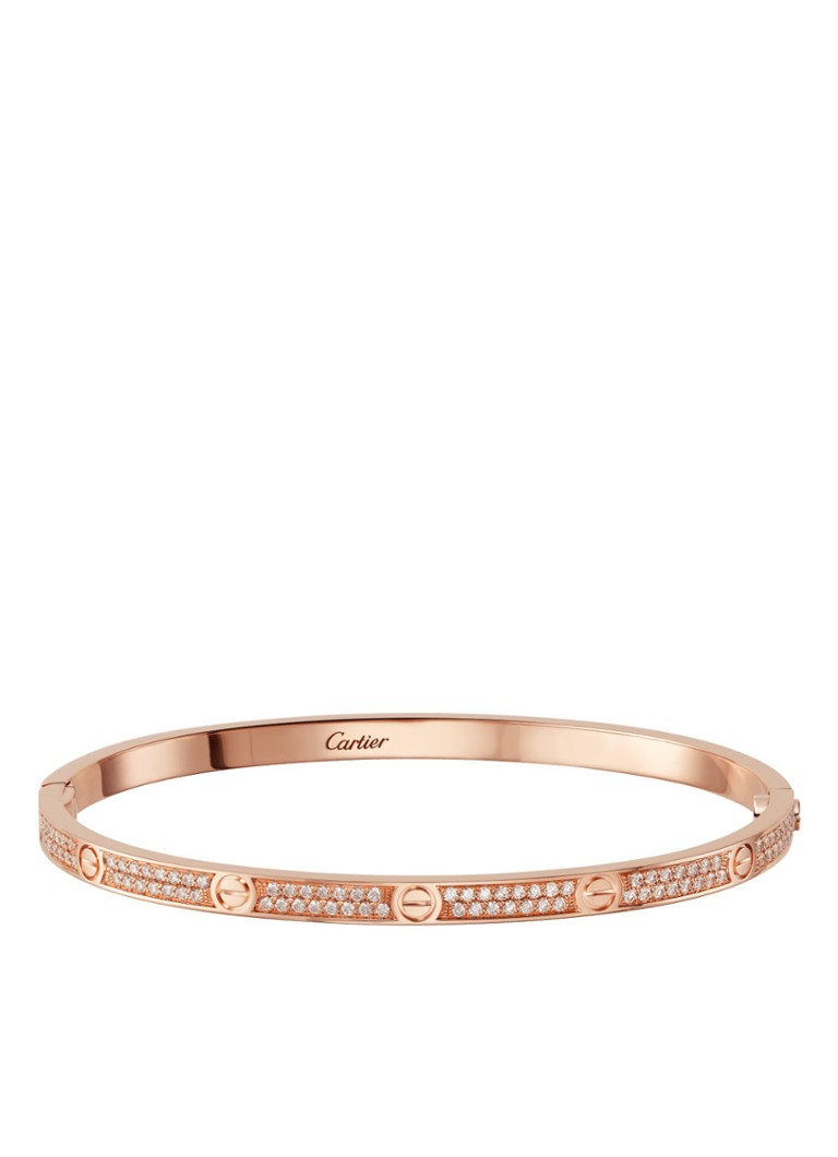 Cartier - Bracelet LOVE petit modèle or rose 18 carats avec diamants N6710715 - Or rose