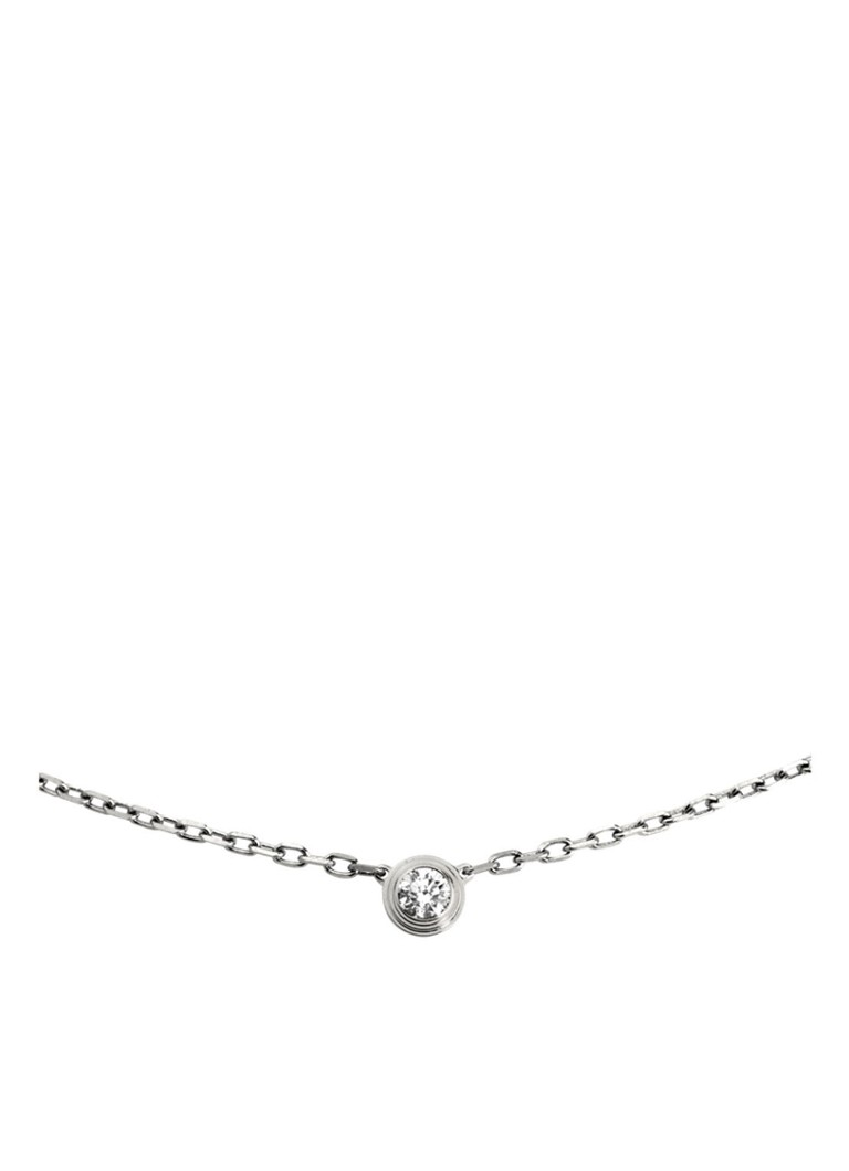 Cartier - Diamants Légers small ketting van 18k witgoud met diamant B7215900 - Witgoud