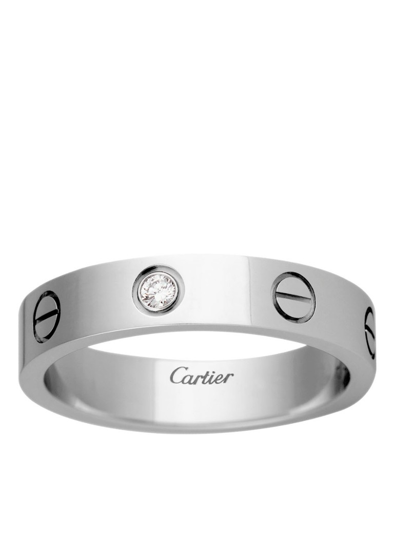 Cartier - Love Wedding band ring van 18k witgoud met 1 diamant B4050500 - Witgoud