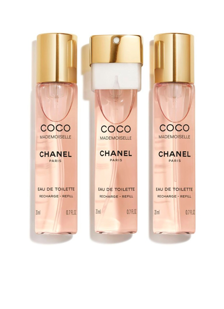 CHANEL - EAU DE TOILETTE TWIST AND SPRAY NAVULLINGEN SET VAN 3 -