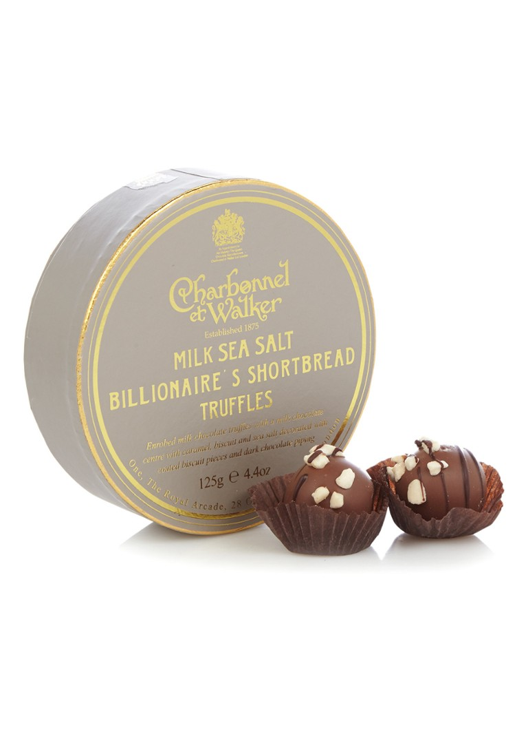Charbonnel et Walker - Milk Sea Salt Billionaire's shortbread truffels 8 stuks - null