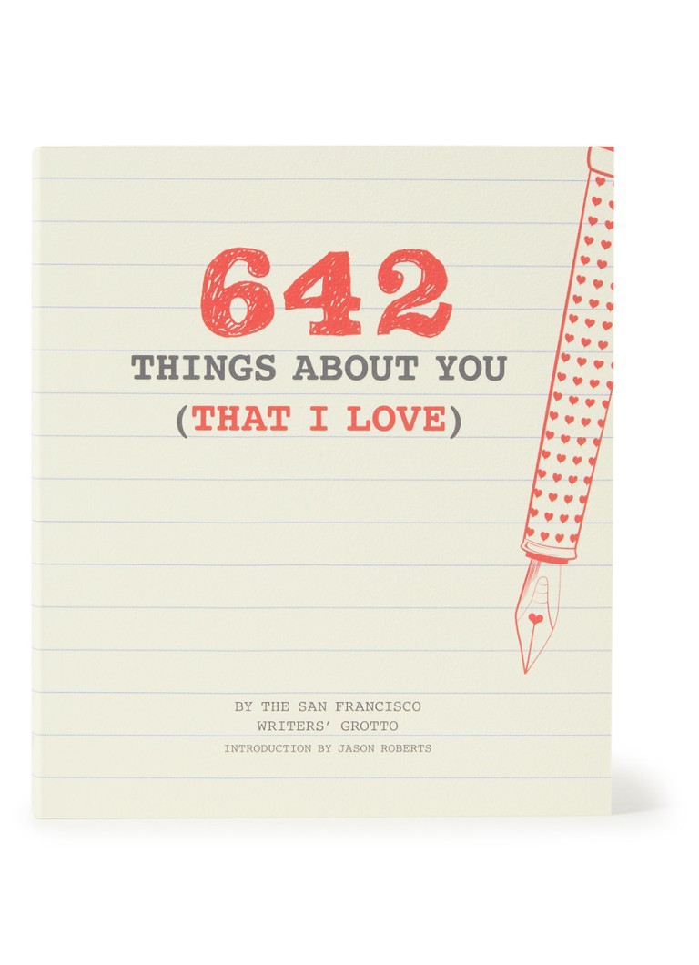 Chronicle Books - 642 Things About You notitieboek - Wit
