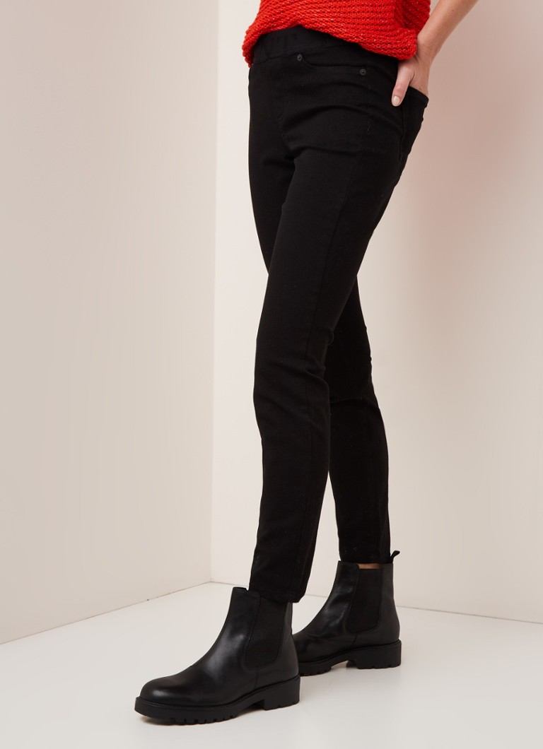Claudia Sträter - Claudia Sträter Mid waist skinny fit jeans met logoband - Zwart