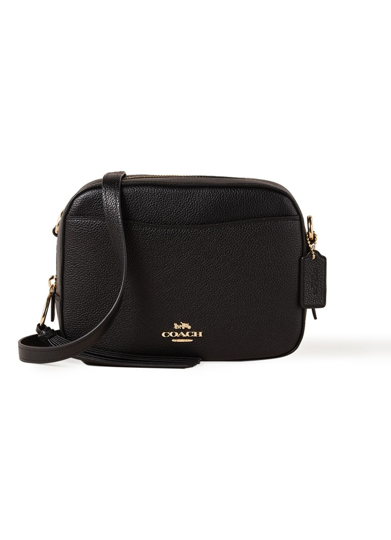 Coach - Camera crossbodytas van leer - Zwart