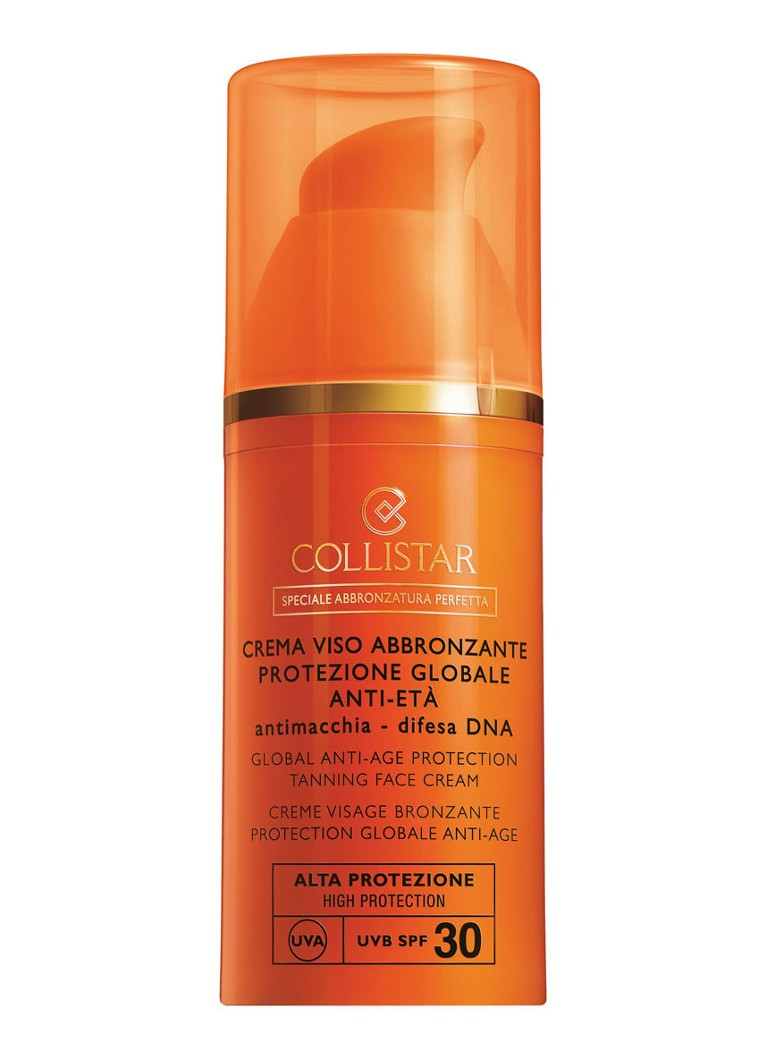 Collistar - Global Anti-Age Protection Tanning Face Cream SPF 30 - bruinversneller -