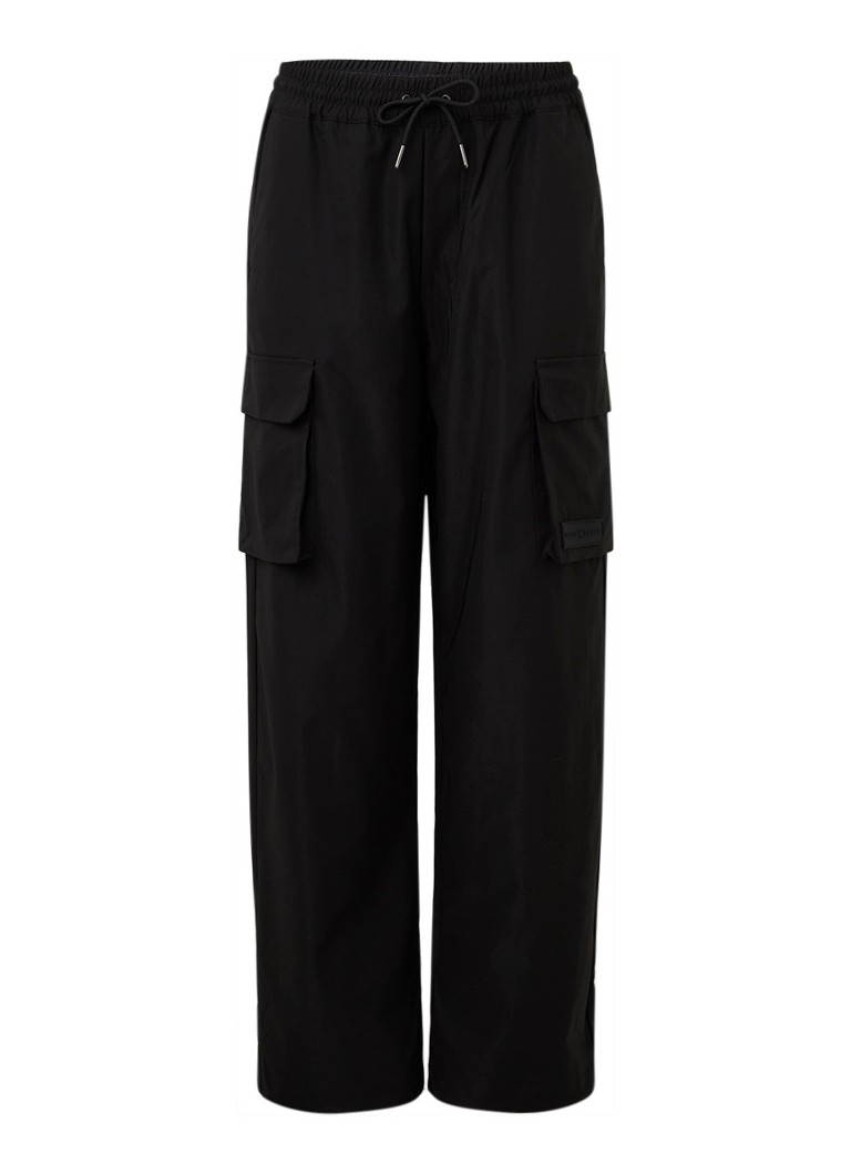 Daily Paper - High waist straight fit track pants met opgestikte zakken - Zwart