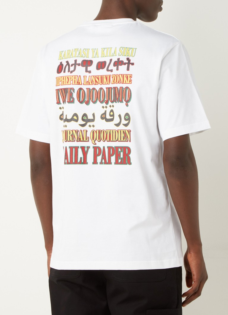 Daily Paper - Remulti T-shirt met logo en backprint - Wit