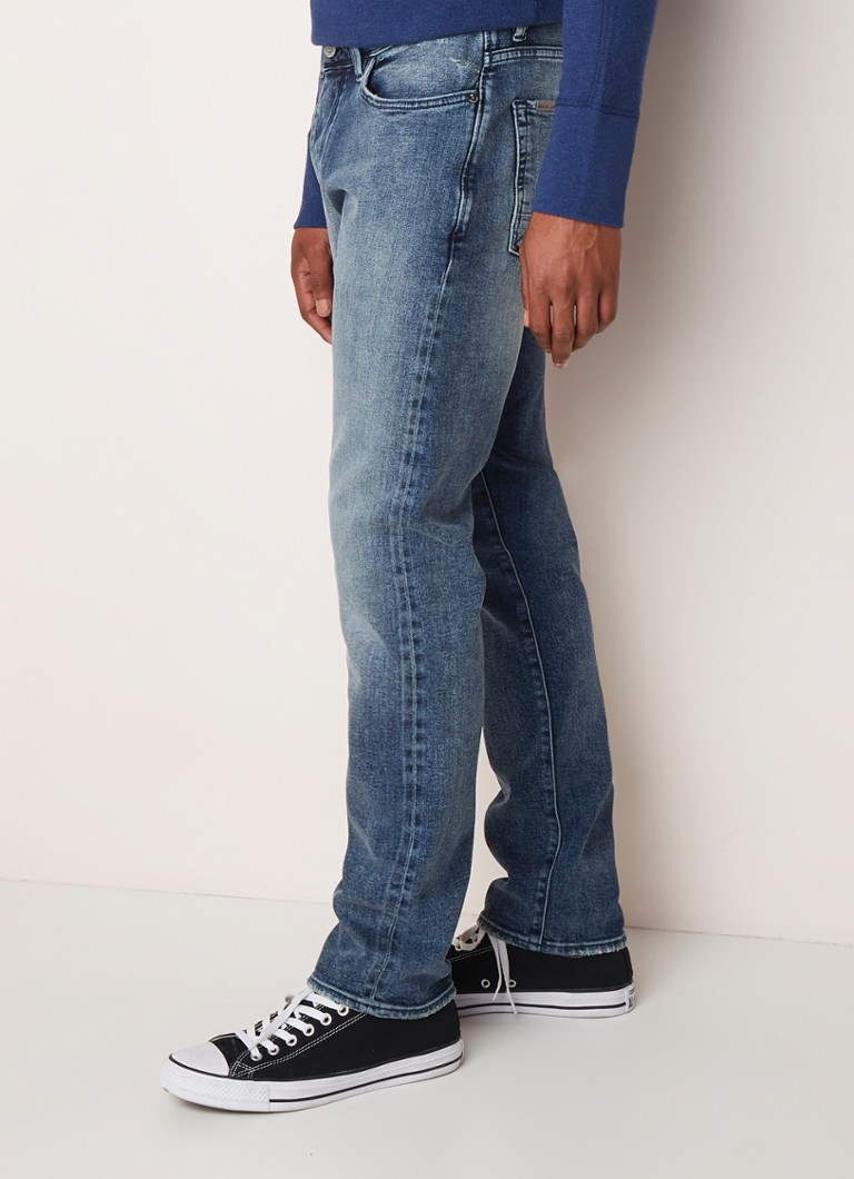 Denim Lab - Nova 200 M2 slim fit jeans met stretch - Indigo