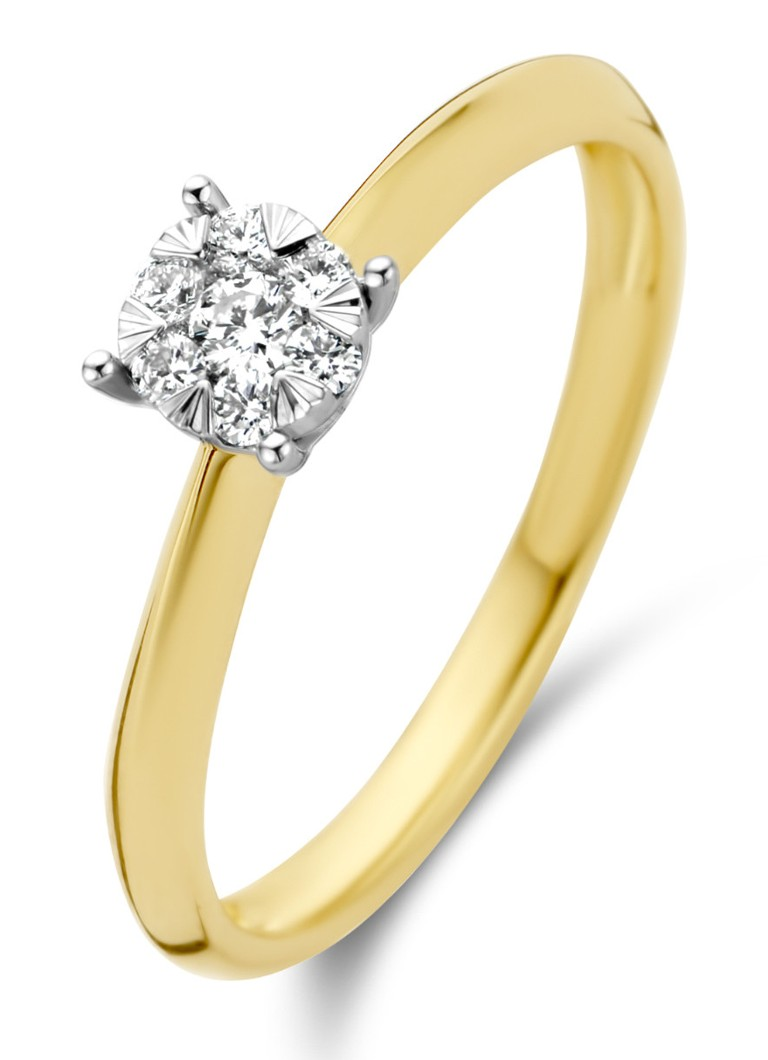 Diamond Point - Gouden ring 0.17 ct diamant Enchanted - Goud