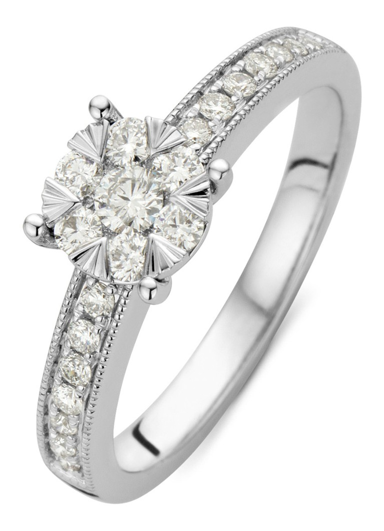 Diamond Point - Ring van 14 karaat witgoud met 0.40 ct diamant Enchanted - Witgoud