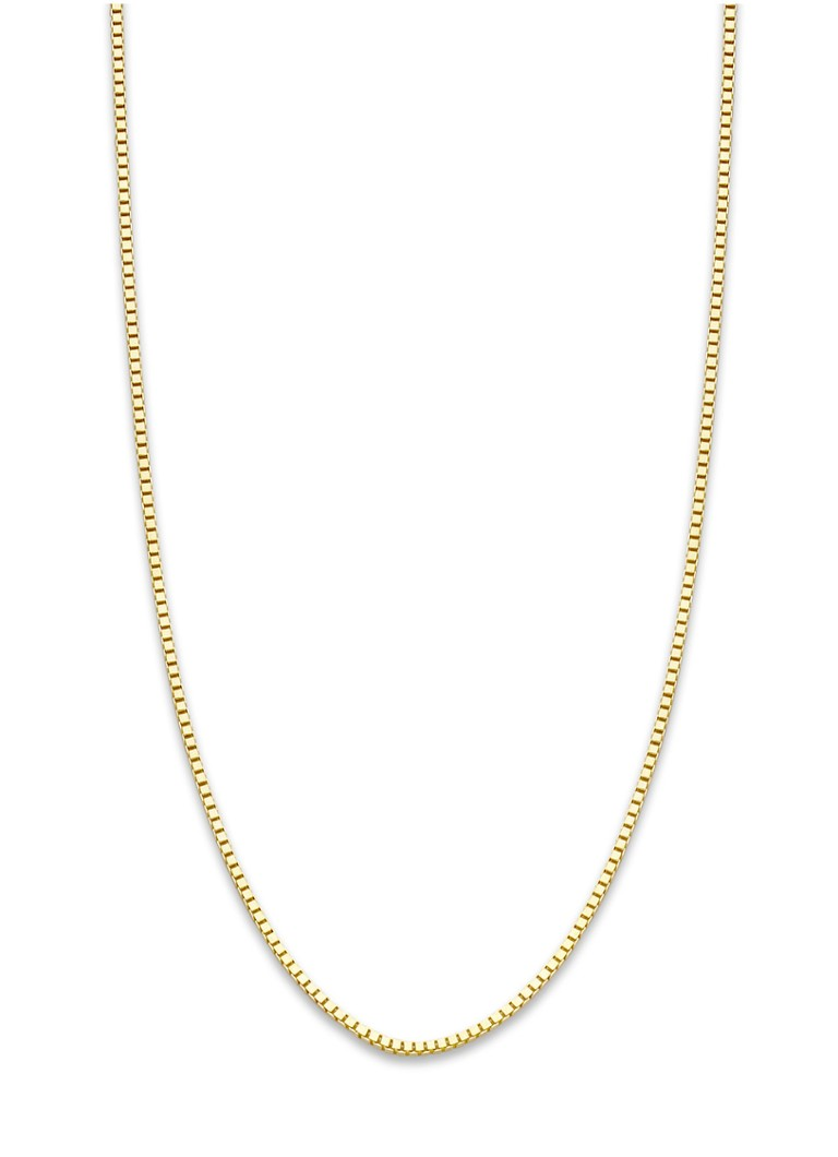 Diamond Point - Timeless treasures geelgouden collier (60cm) - Goud