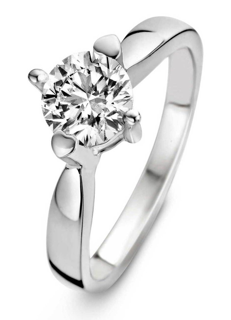 Diamond Point - Witgouden ring 0.40 ct diamant Hearts & Arrows - Witgoud