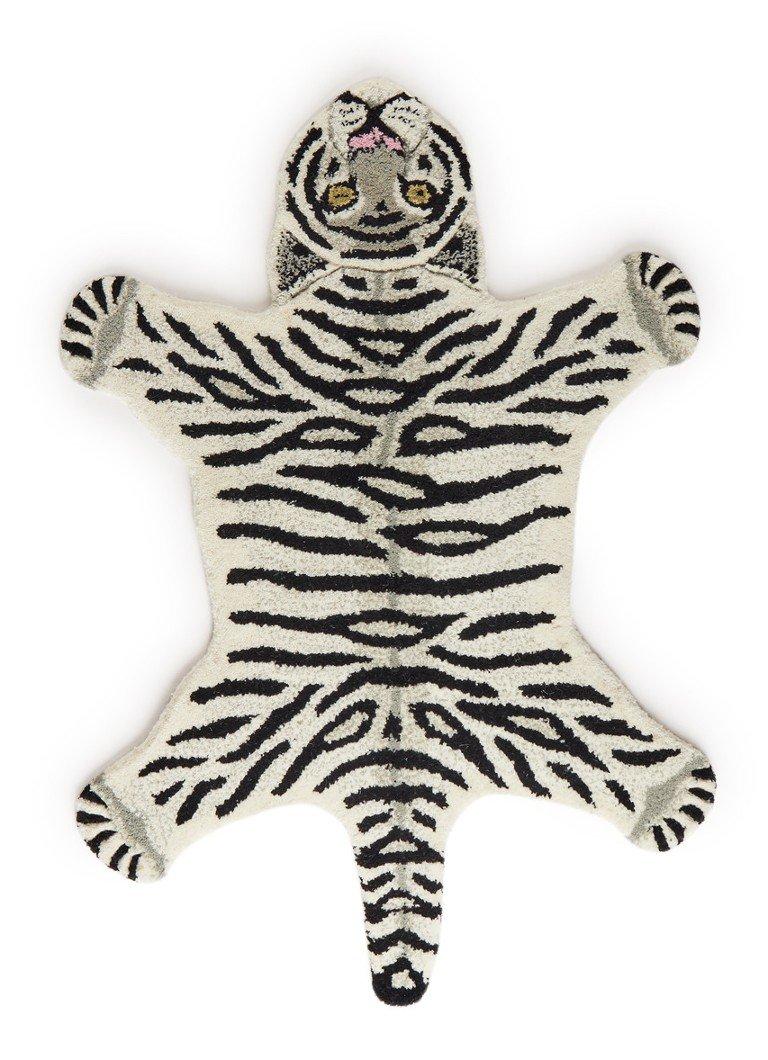 Doing Goods - Snowy Tiger Small vloerkleed 87 x 65 cm  - Gebroken wit