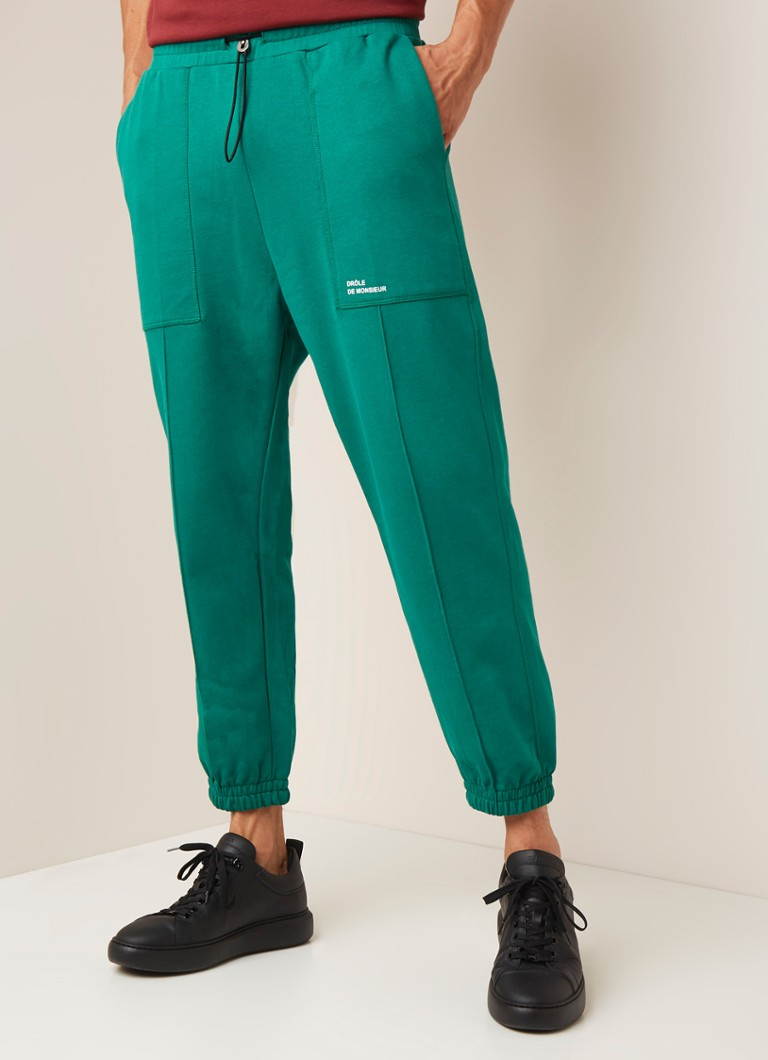 Drôle de Monsieur - Relaxed fit joggingbroek met steekzakken - Groen
