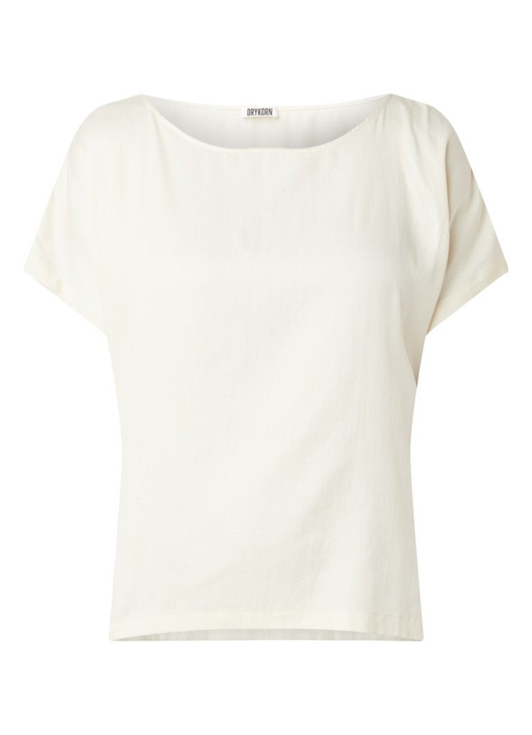 DRYKORN - Somia loose fit top in katoenblend - Creme