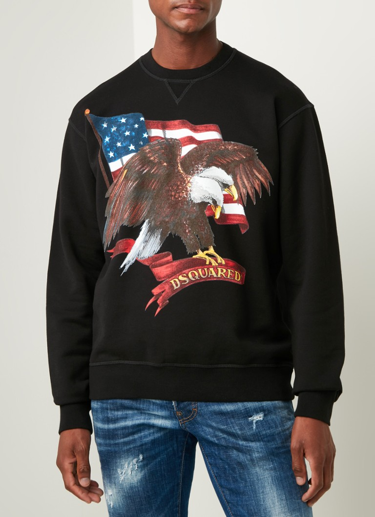 Dsquared2 - Cool Fit sweater met print - Zwart