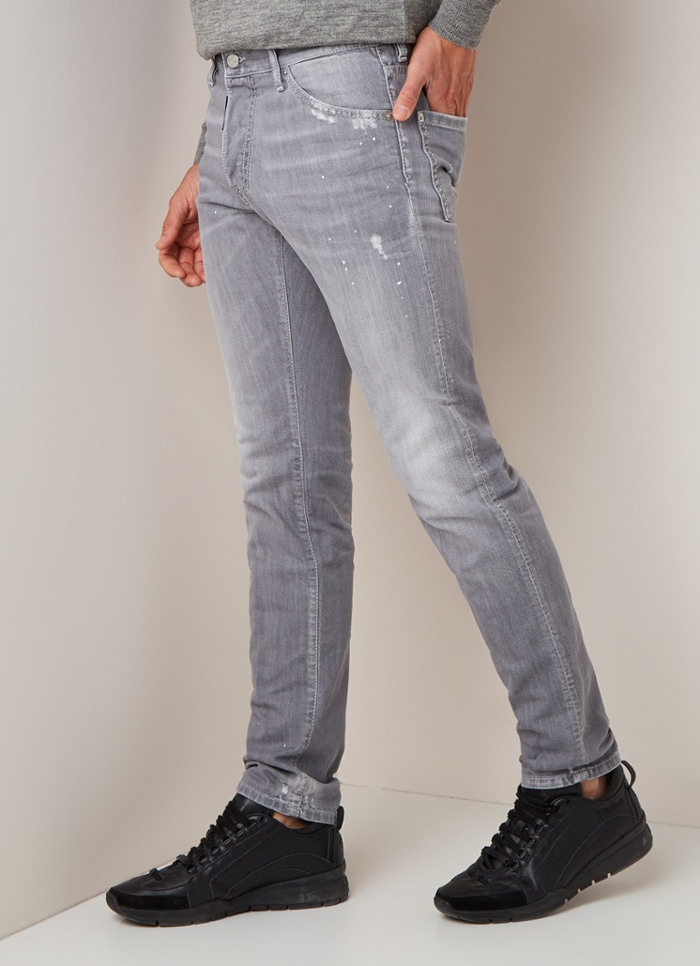 Dsquared2 - Cool Guy slim fit jeans met ripped details - Middengrijs