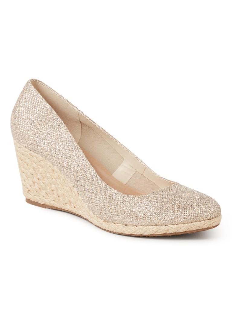 Dune London - Annabels sandalette met sleehak en glitter finish - Goud