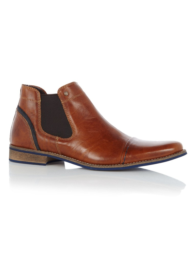 Dune London - Chili chelsea boot met contrasterende stiksels - Bruin